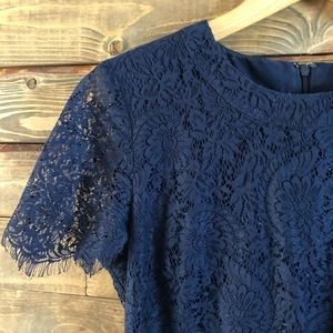 Navy blue lace madewell dress (8)